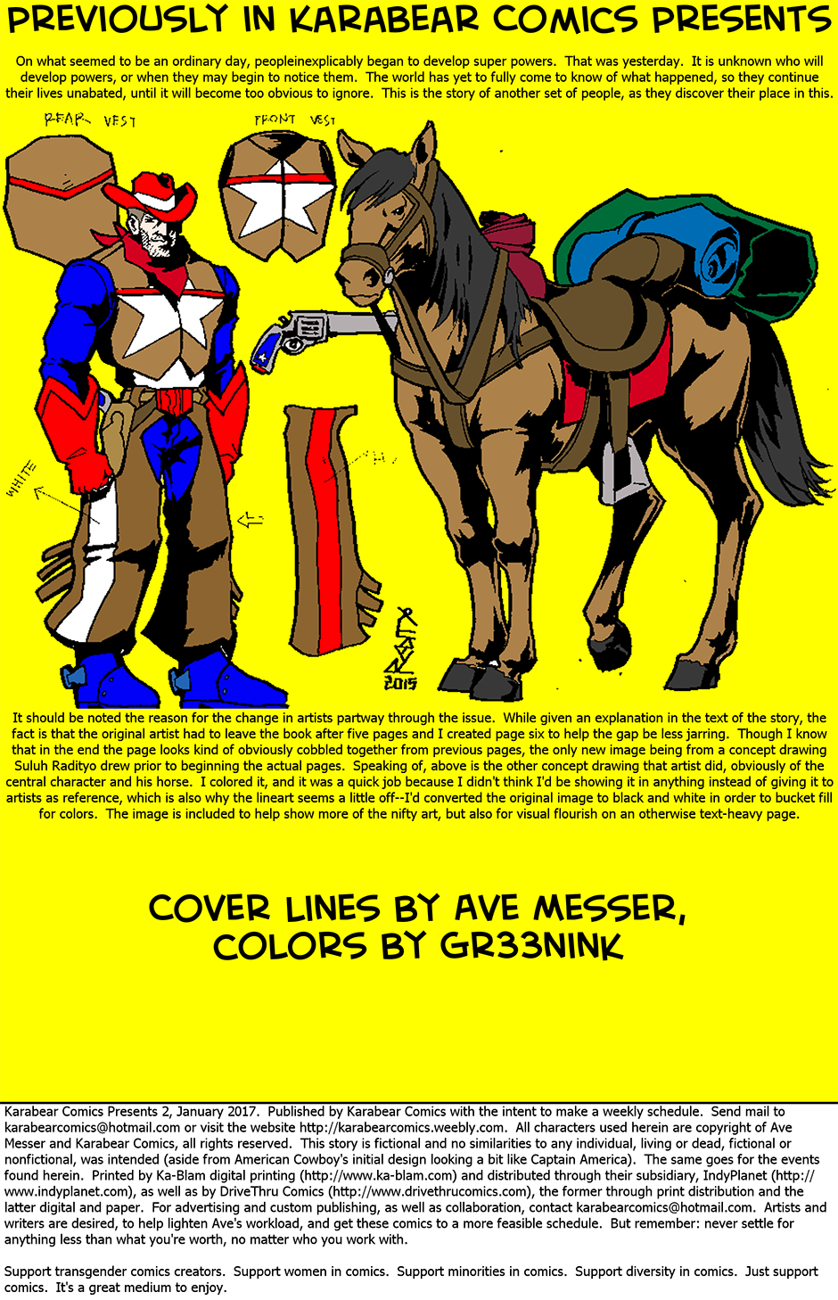 Issue 2: American Cowboy - Inside cover